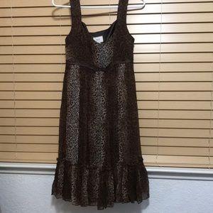 Animal-print 100% Silk Dress. Like Brand New.